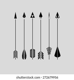 Six black arrows