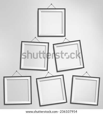Six Black Modern Blank Frames Isolated Stock Vector (Royalty Free ...