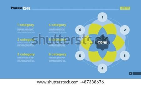 six circle venn diagram slide template