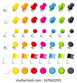 Six Different Pins Needles Flags And Magnets With Shadow Eight Colors