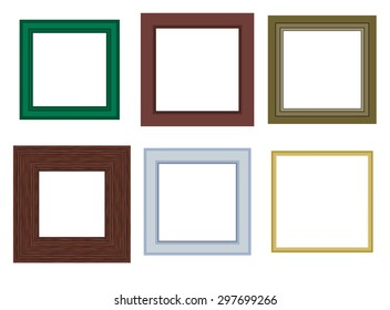 Six different vector frame design