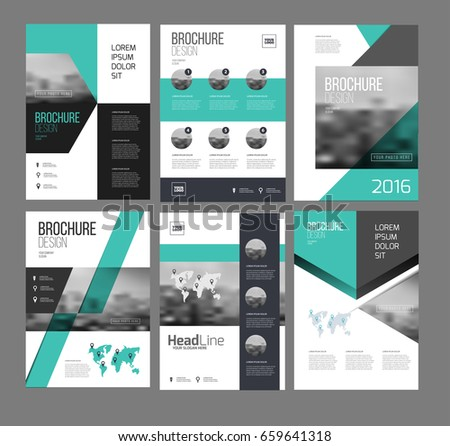 Marketing Flyer | Six Flyer Marketing Templates Photo Text Stock Vektorgrafik