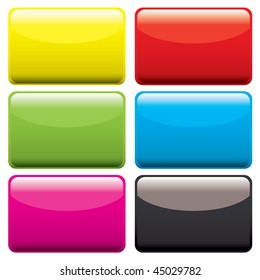 Six gel filled oblong icons with beveled edge and room to add text