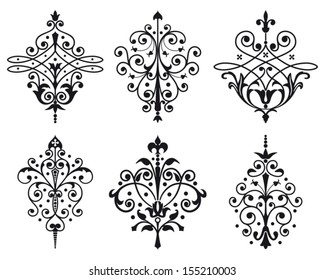 Six old style vector decorations