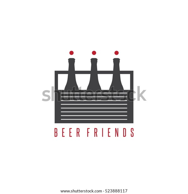 Six Pack Beer Bottles Abstract Humans Stock Vector Royalty Free 523888117