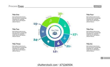 Six Percentage Sectors Slide Template