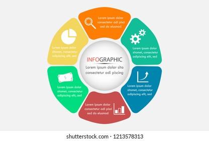 six step infographic
