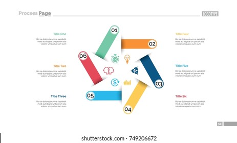 Six Steps Strategy Slide Template