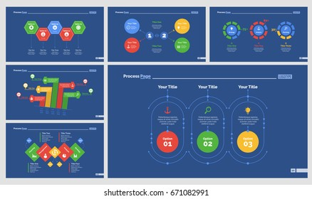 Six Strategy Diagrams Slide Templates Set