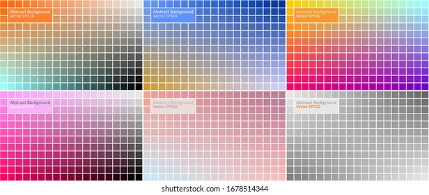 Six variants of Abstract Background design. Set of colorful vector backgrounds.
