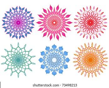 Six Vibrant and Colorful Mandalas