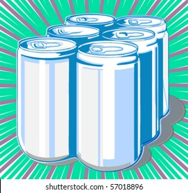 Six-pack cans