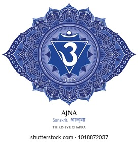 Sixth chakra illustration vector of Ajna