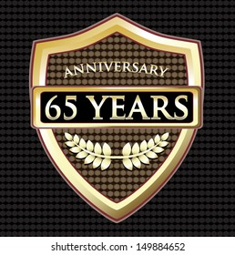 Sixty Five Years Anniversary Golden Shield