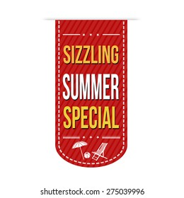Sizzling summer special banner design over a white background, vector illustration