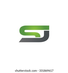 SJ company linked letter logo green