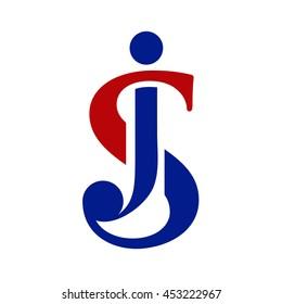 SJ initial logo - JS initial logo