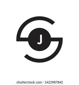 SJ JS Letter Initial Logo Design Template - Vector - Vector