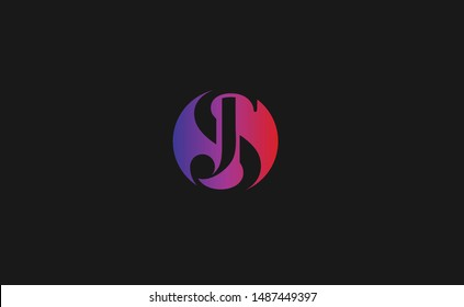 SJ, JS Letter Logo Design with Creative Modern Trendy Typography