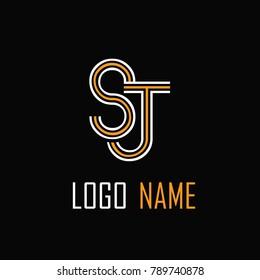 SJ Letter Logo Design .