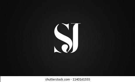 SJ Letter Logo Design Template Vector