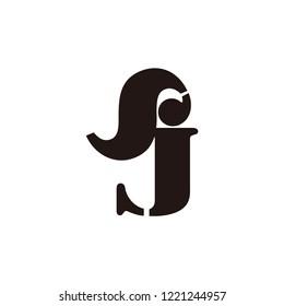 sj letter vector logo