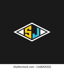 SJ logo designed with letter S J in vector format.
