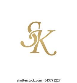 SK initial monogram logo