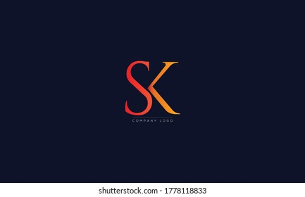 SK or KS letters Logo Alphabet  Design Vector Symbol