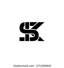 sk letter original monogram logo design