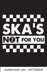 ska music quote two tone graphic tee poster