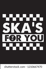 ska music quote two tone graphic poster