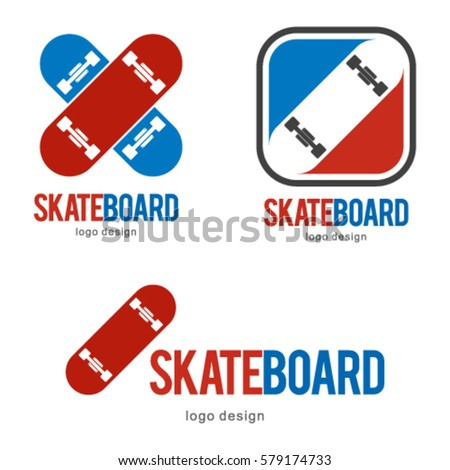 Skate Board Skateboard Logo Icon Symbol Stock Vector Royalty Free