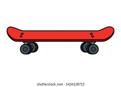 skate board sport element icon