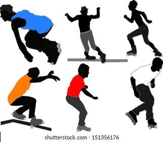 skate boardes - vector