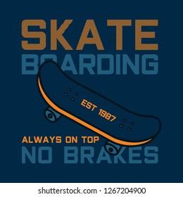 Skate boarding typography,...hics, vectors - Vector