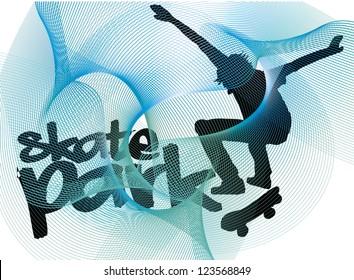 skate park vector art