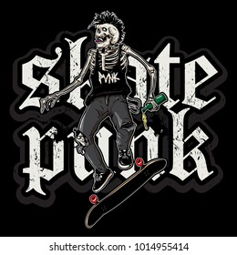 skate punk in action