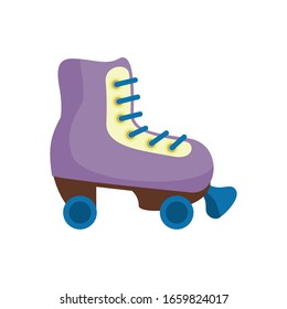 skate roller child toy flat style icon vector illustration design