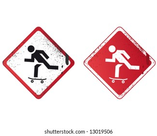 Skate Street Sign