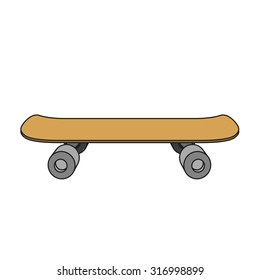Skateboard cartoon vector illustration