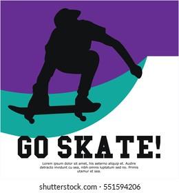 Skateboard event poster design