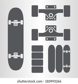 Skateboard, fingerboard icon