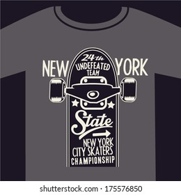 skateboard graphic design for t-shirt