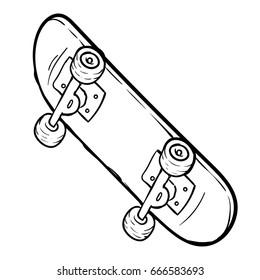 skateboard hand drawn sketch
