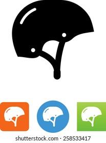 Skateboard helmet icon