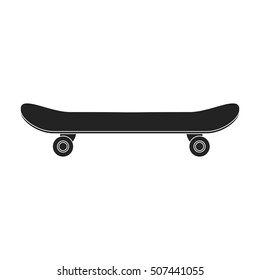 Skateboard icon in black style isolated on white background. Park symbol stock vector illustration.