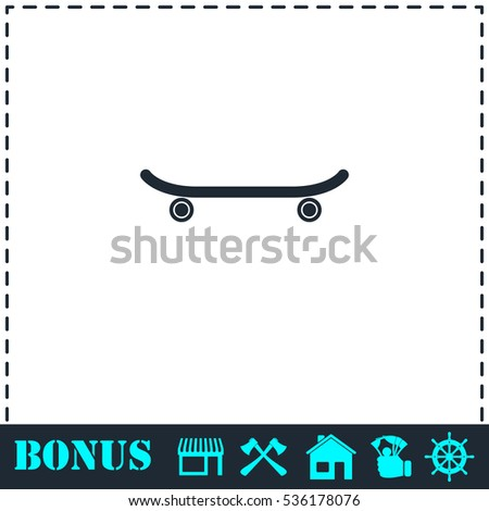 Skateboard Icon Flat Simple Vector Symbol Stock Vector Royalty Free