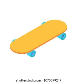 Skateboard isometric style isolated. Skateboarder vector illustration