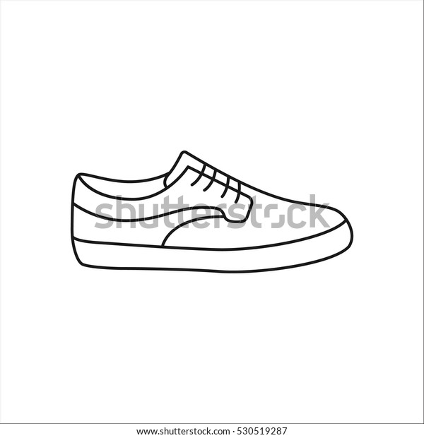Symbol Stock Shoe Sign Vector Line Skateboard Sneaker Yvb7fy6g